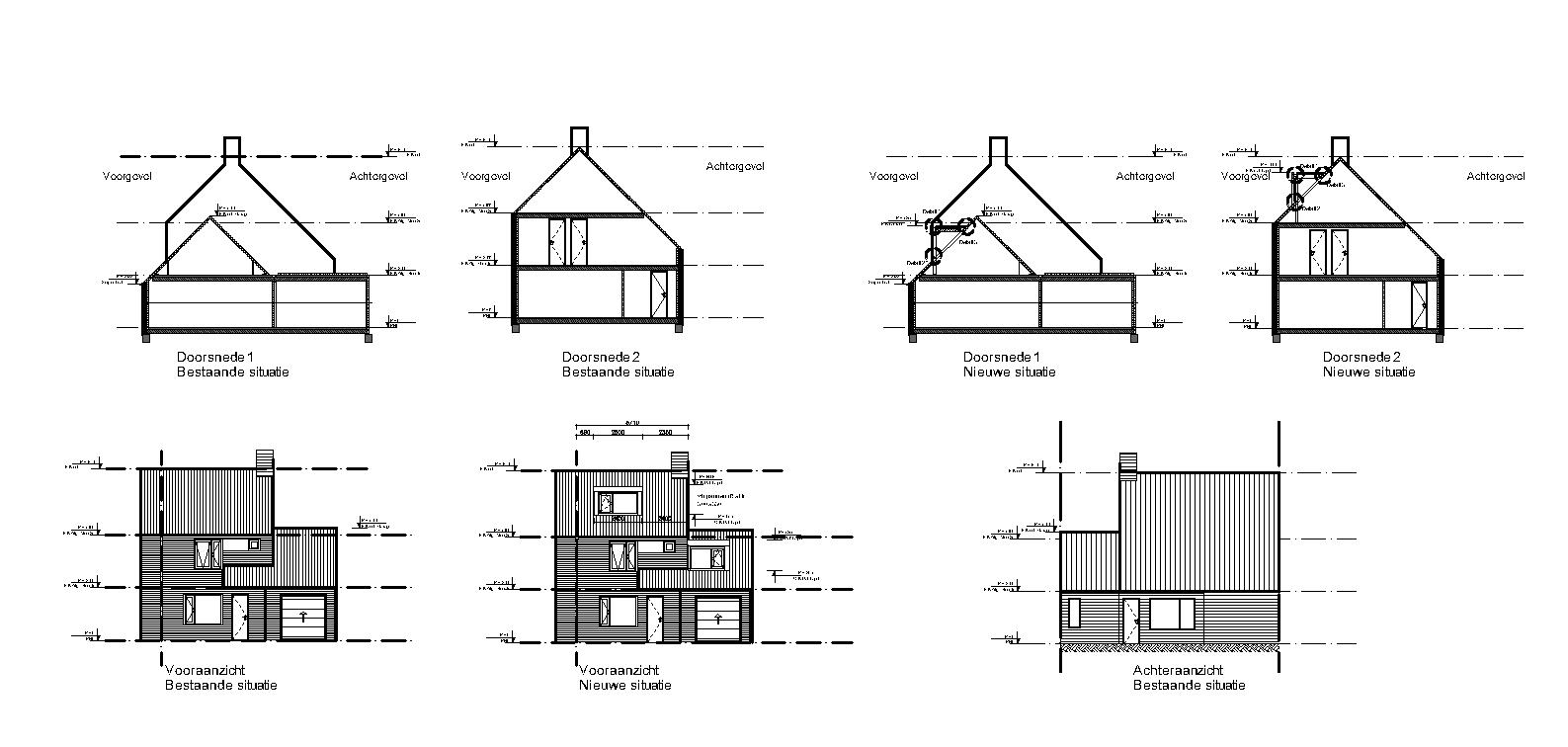 Tekenwerk dakopbouw Hoofddorp